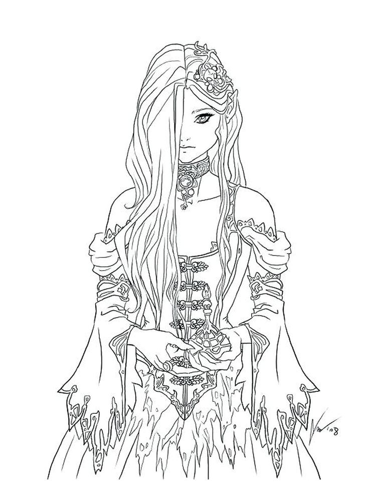 printable Gothic Art Coloring Pages