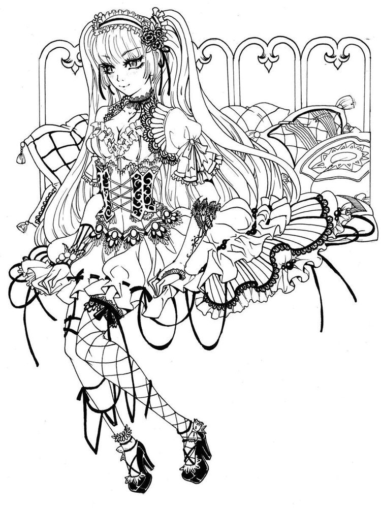 printable Gothic Coloring Pages For Adults