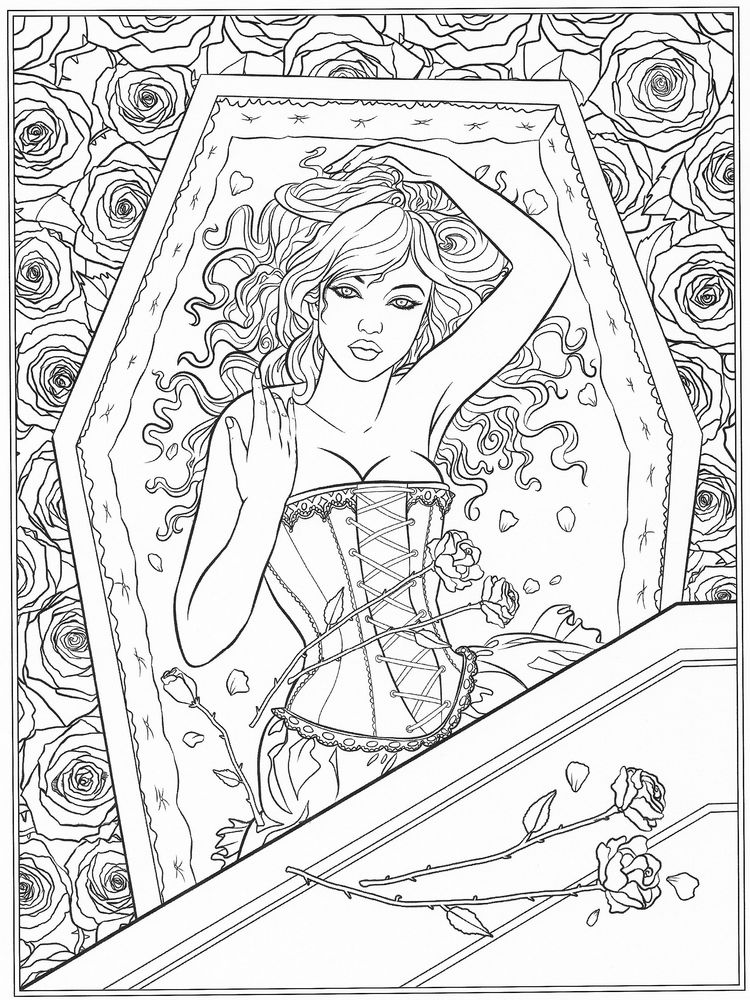 printable Gothic Coloring Pages