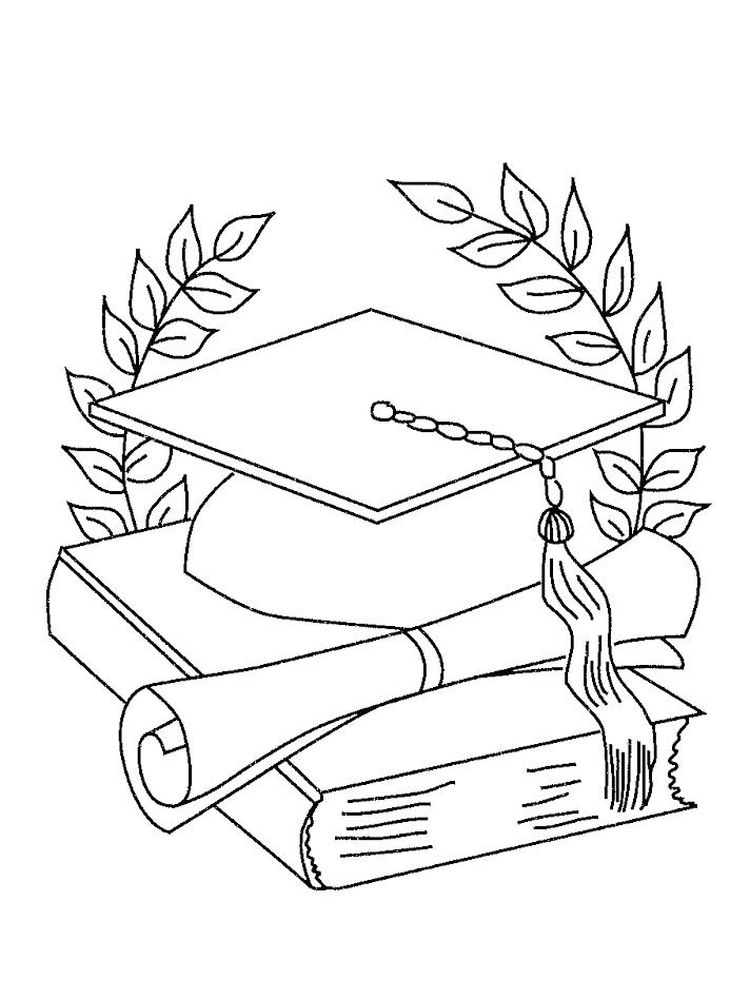 printable Graduation Coloring Sheets Kindergarten
