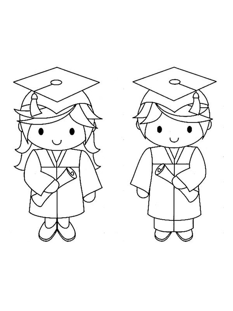 printable Graduation Hats Coloring Pages