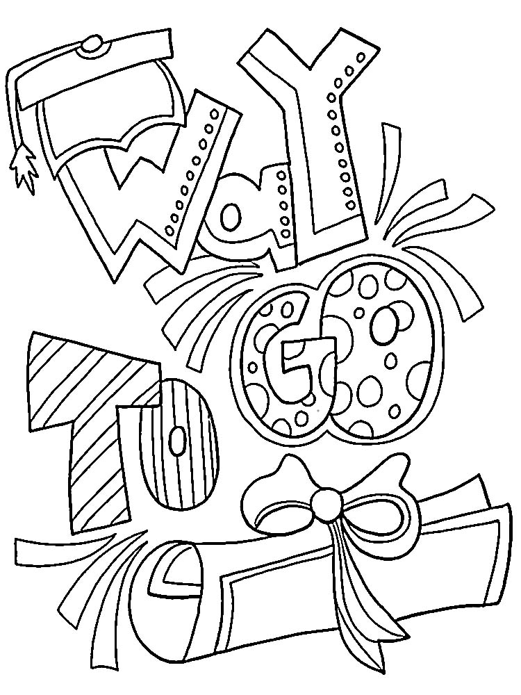 printable Happy Graduation Coloring Pages