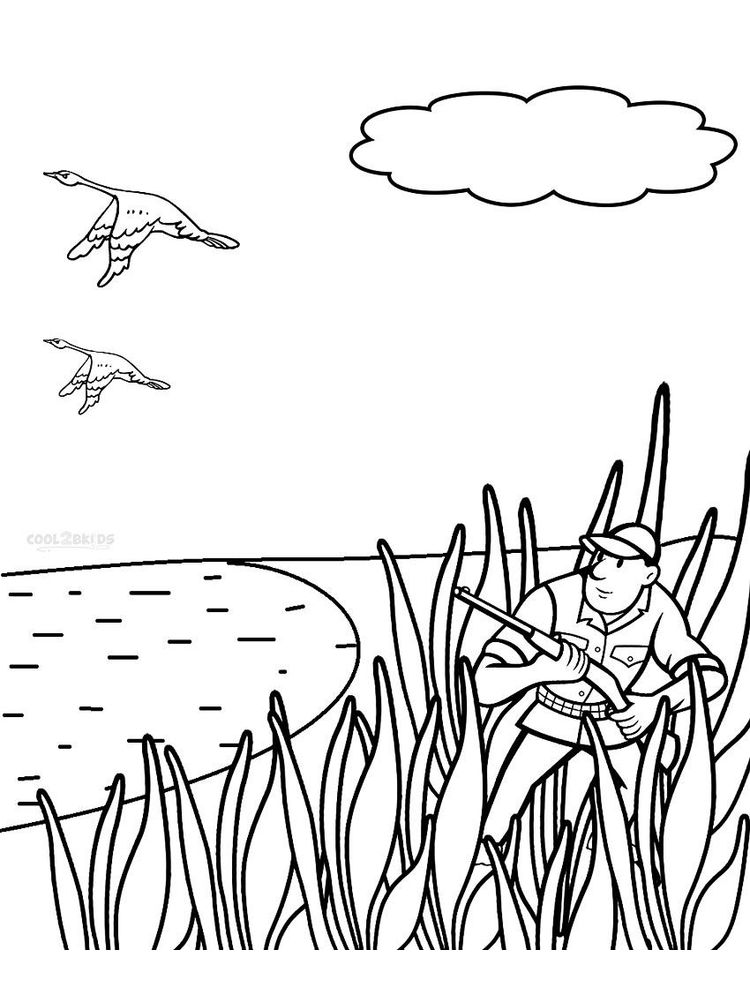 printable bird hunting coloring pages free