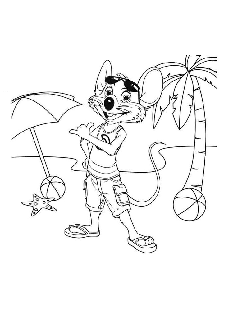 printable chuck e cheese coloring pages free pdf