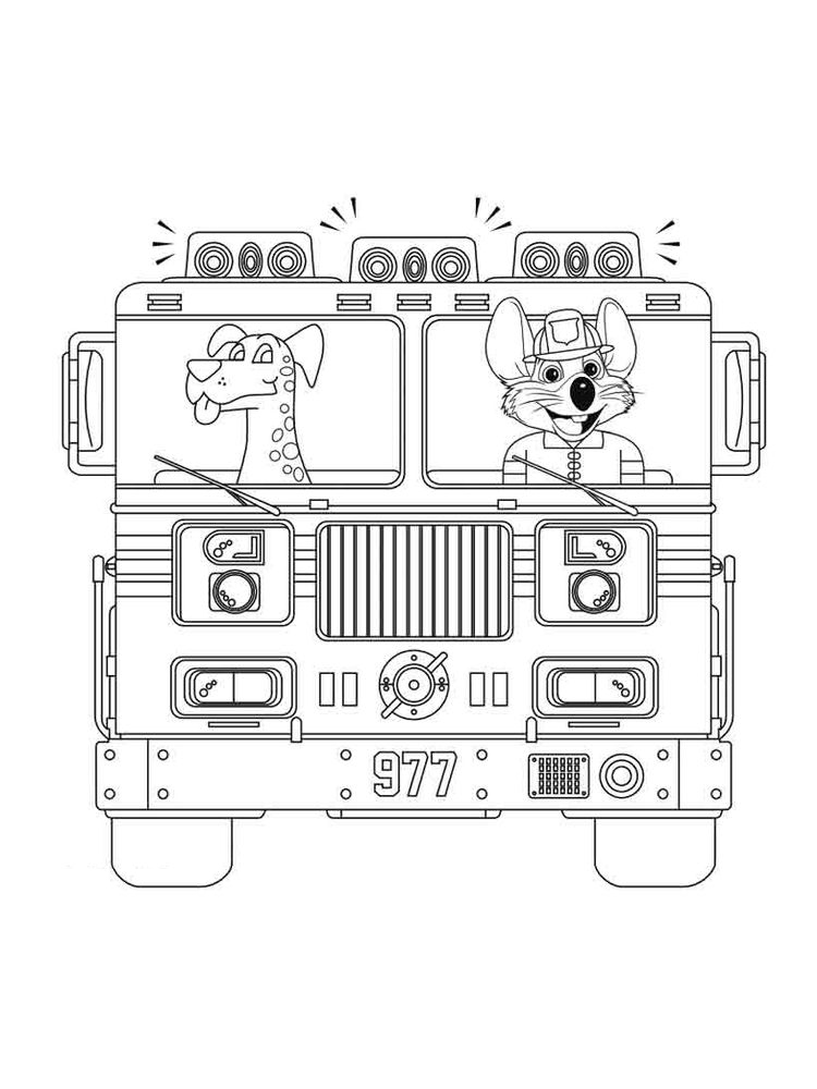 printable chuck e cheese coloring pages free