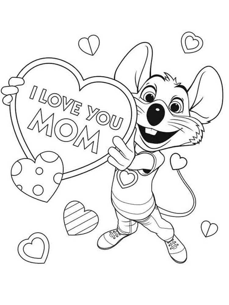 printable chuck e cheese coloring pages image