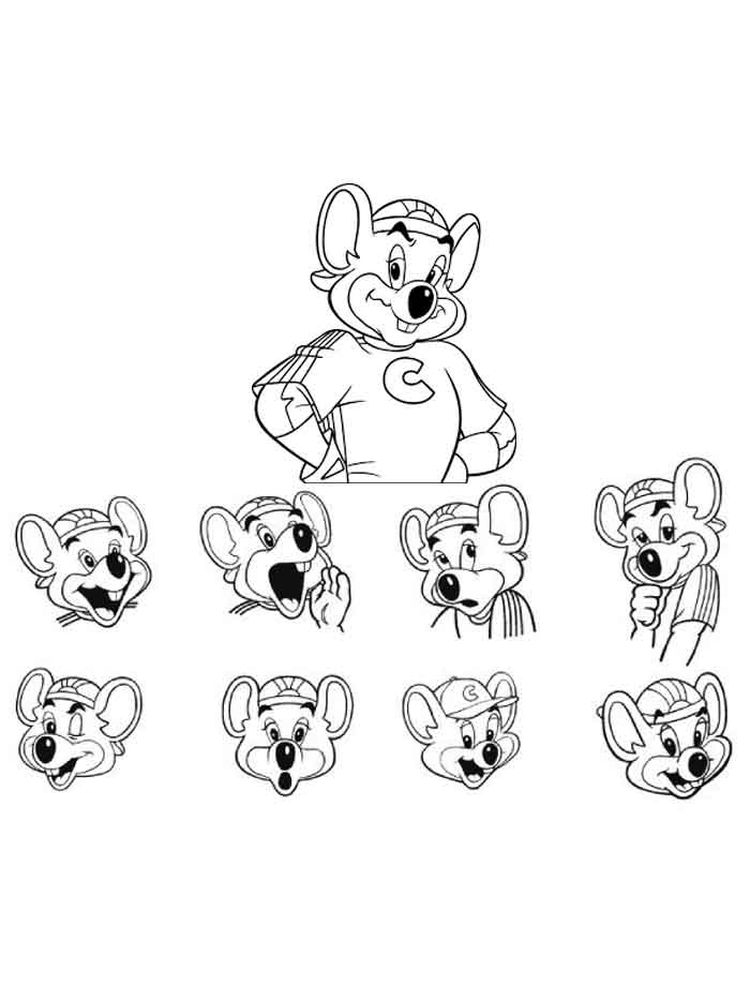 printable chuck e cheese coloring pages print