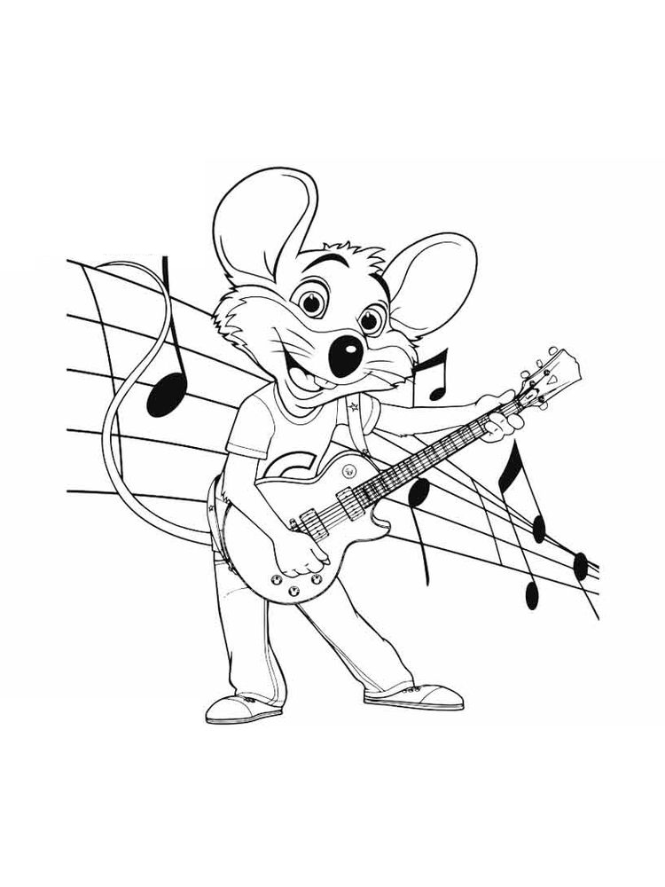 printable chuck e cheese coloring pages sheet