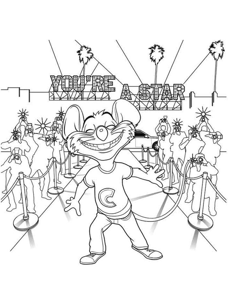 printable chuck e cheese coloring pages