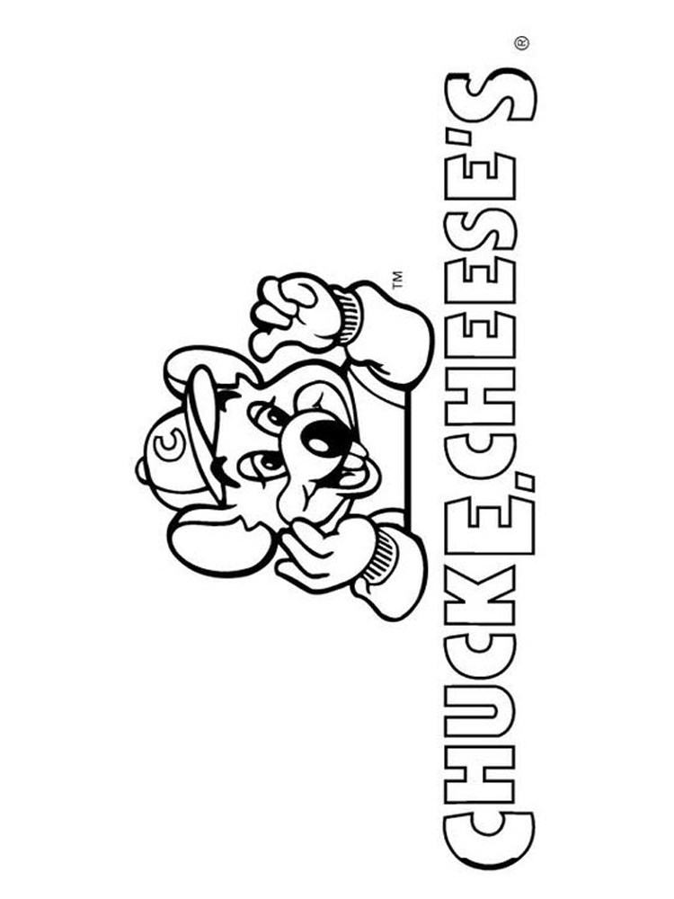 printable chuck e cheese coloring sheet pages