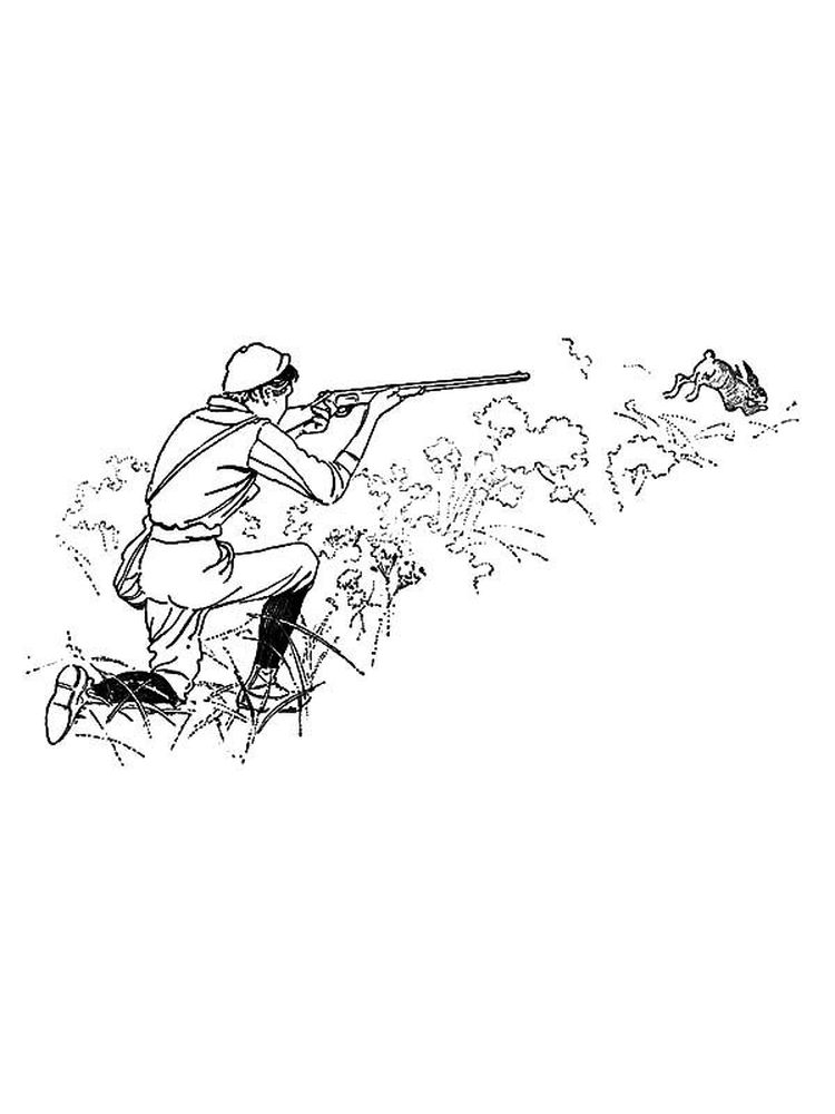 printable coloring pages woods and hunting print