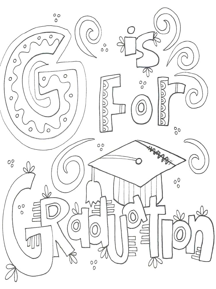 printable congratulations graduation coloring pages