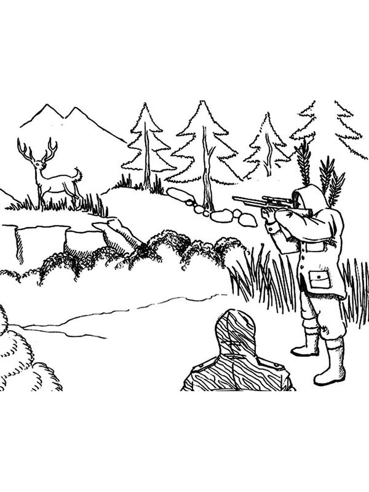 printable coon hunting coloring pages to print