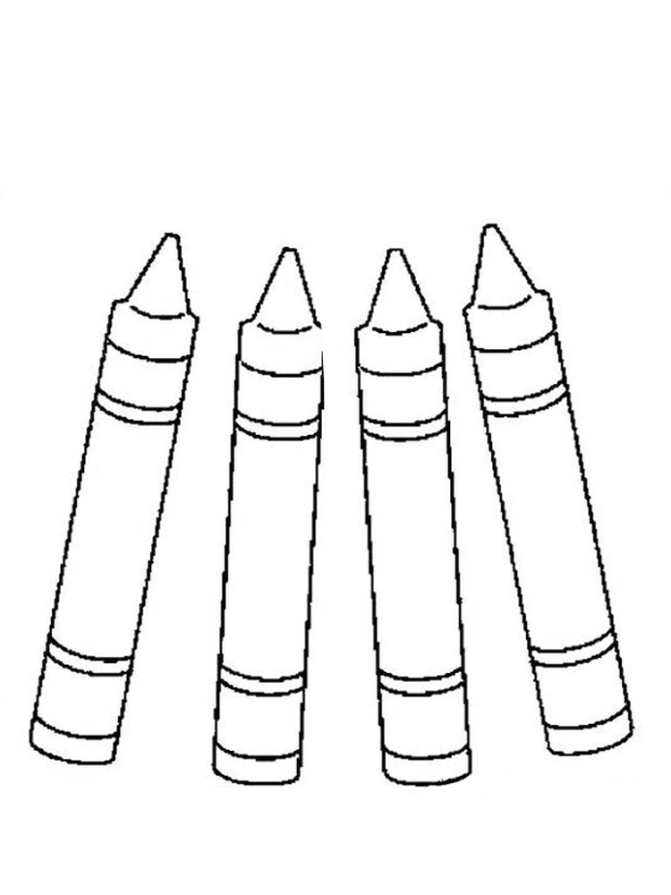 printable crayons coloring pages