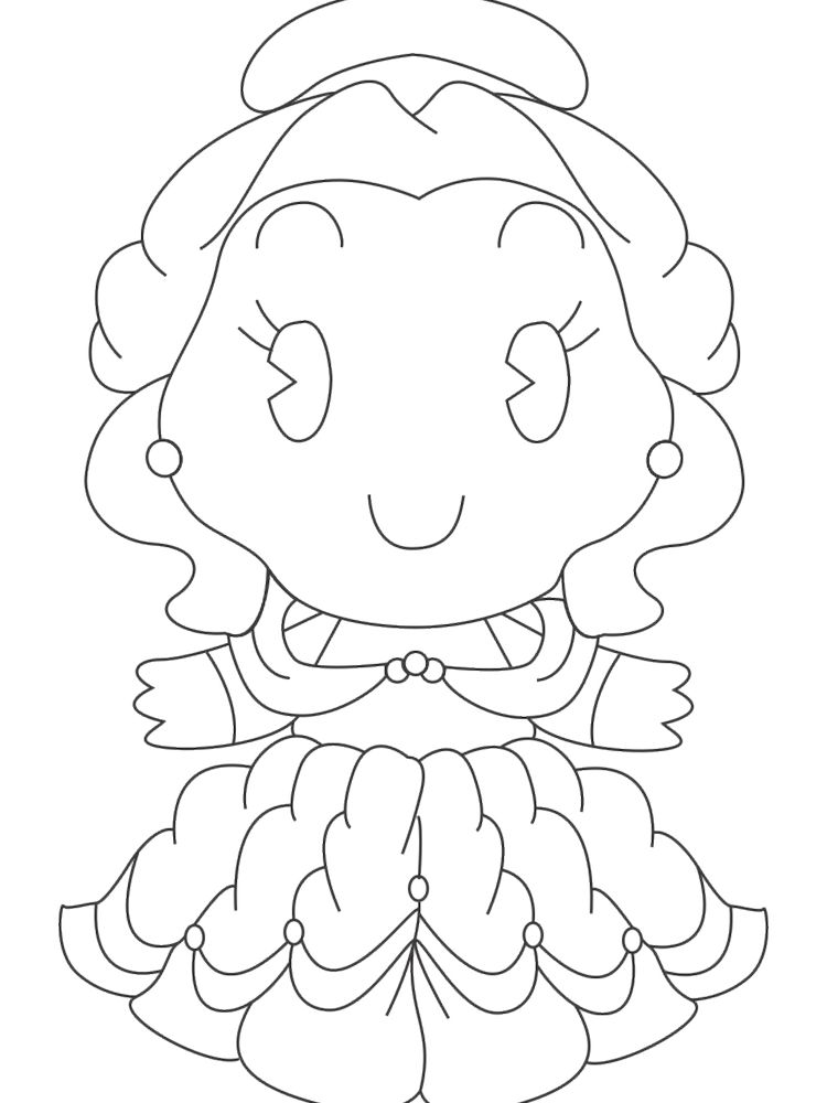 printable disney princess cuties coloring pages picture