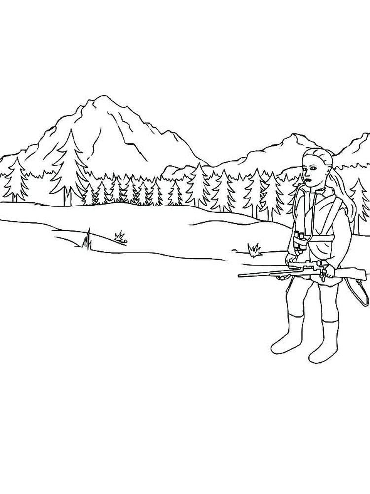 printable free jungle hunting coloring pages pdf
