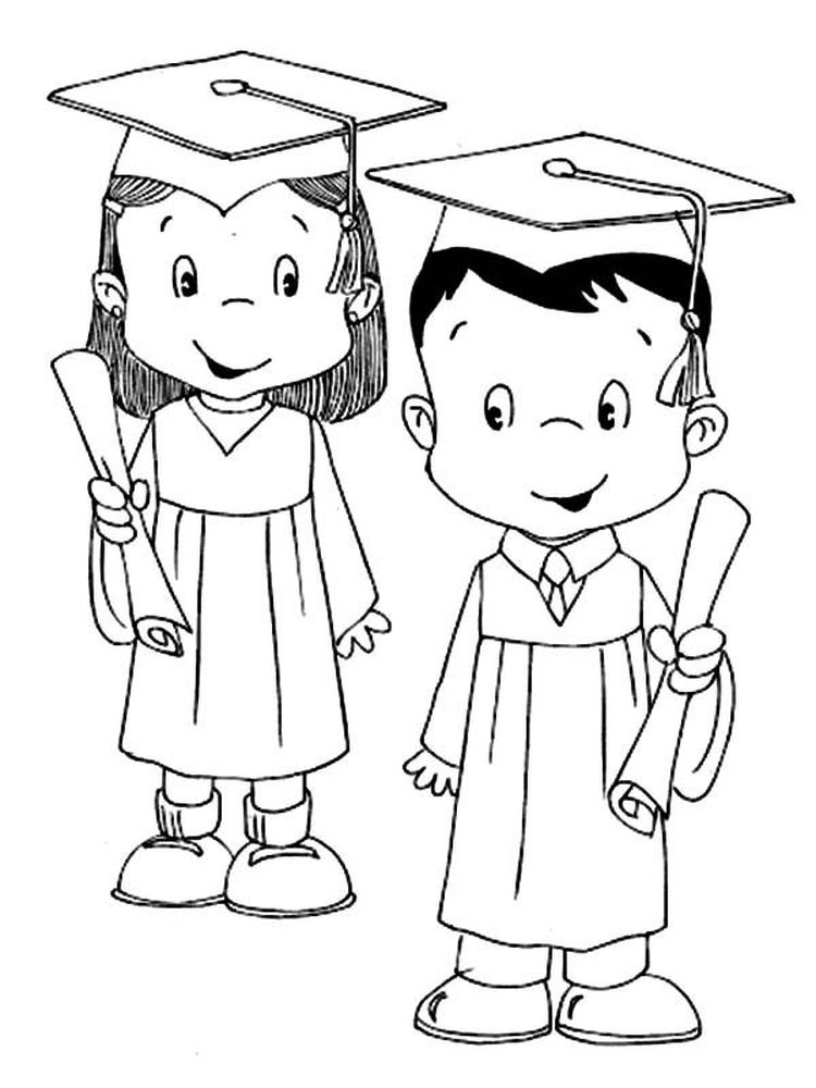 printable graduation cap and gown coloring pages