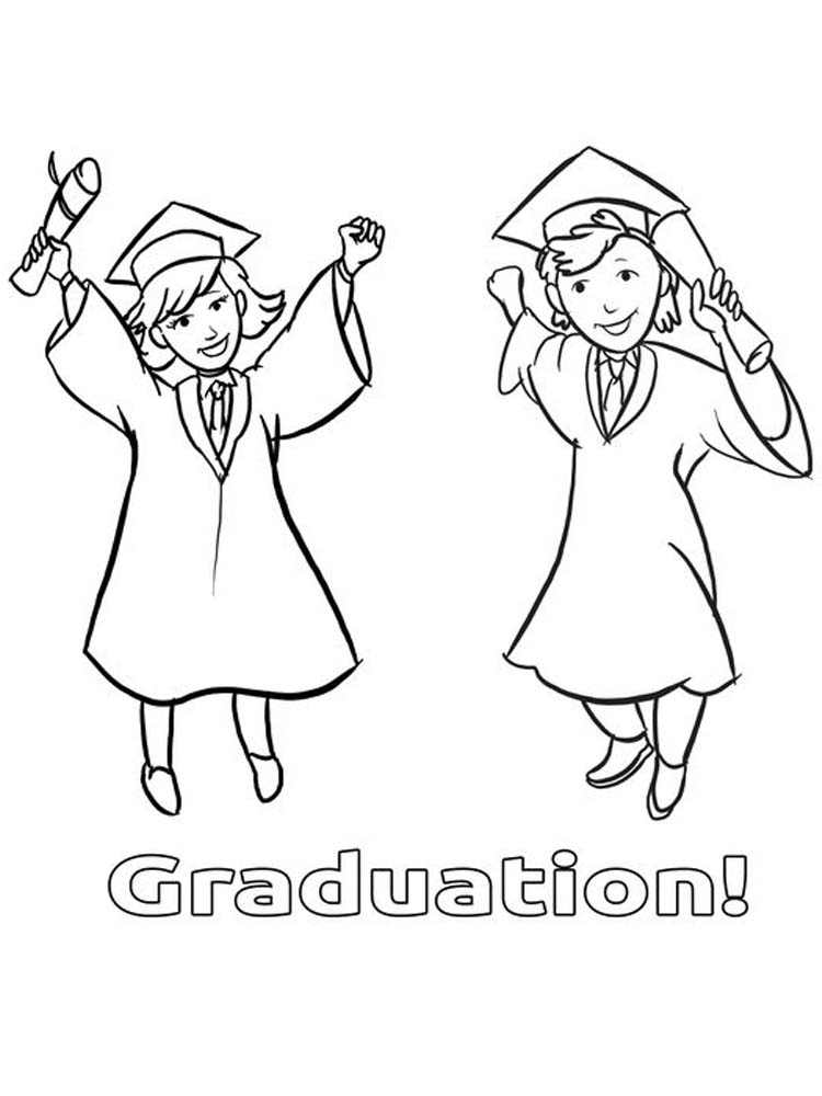 printable graduation ceremony coloring pages