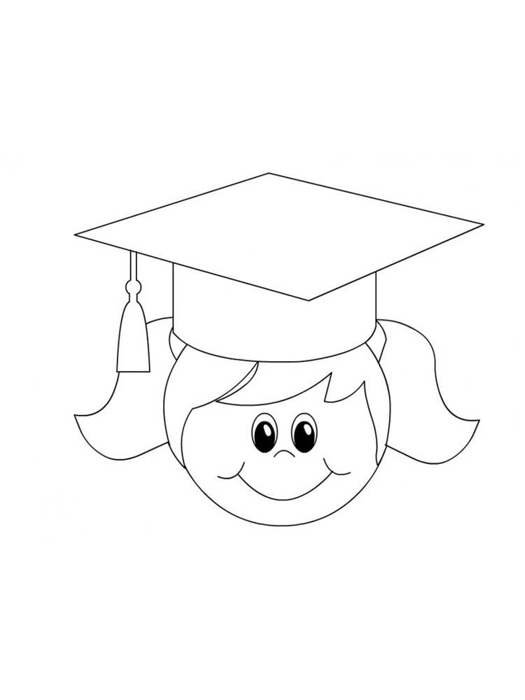 printable graduation coloring pages for kindergarten