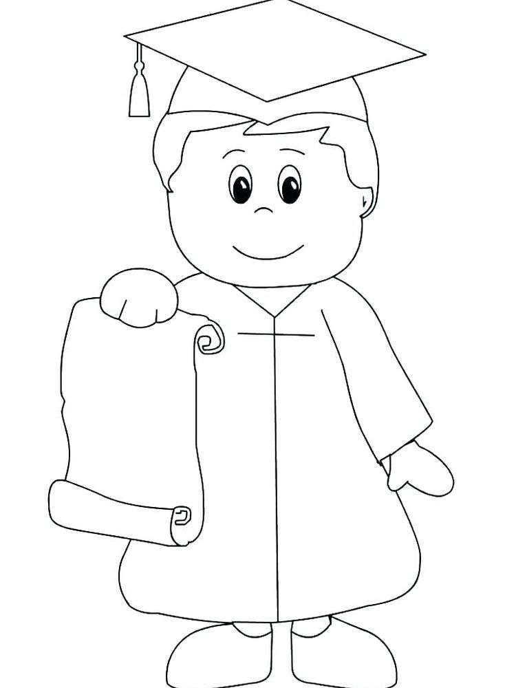 printable graduation coloring pages for preschoolers