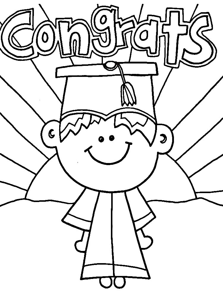 printable graduation coloring pages