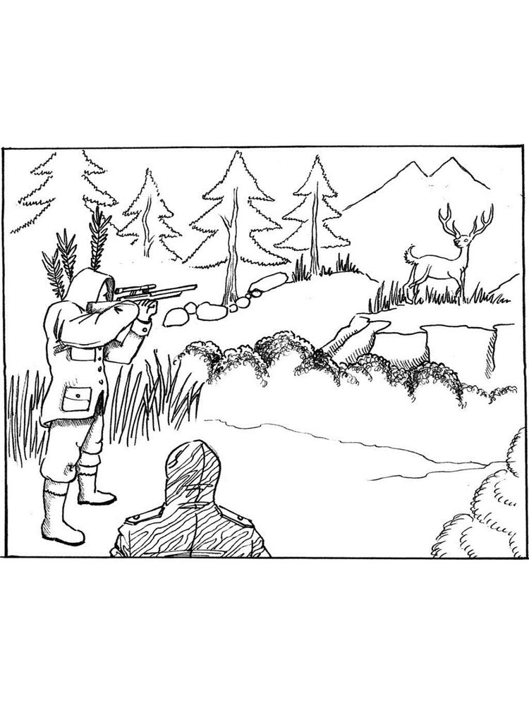 printable hunting coloring pages dowload