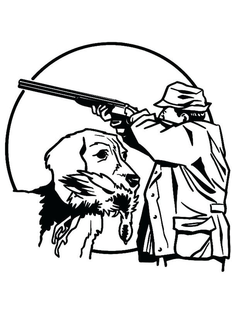 printable hunting coloring pages free