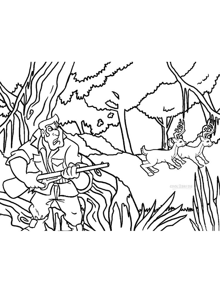 printable hunting coloring pages printable free
