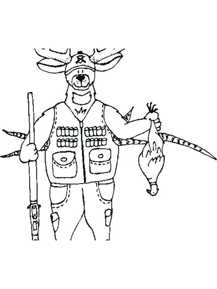 printable hunting coloring pages to print free