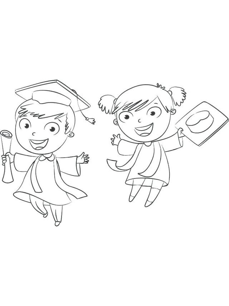 printable kindergarten graduation coloring pages free