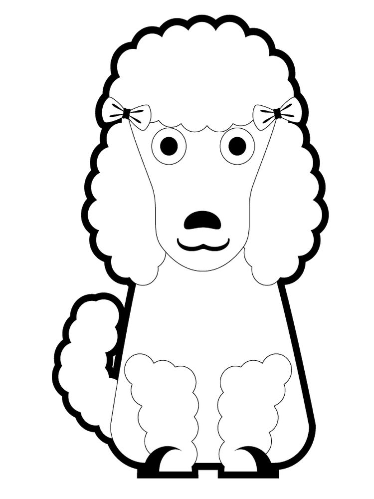 printable poodle coloring page