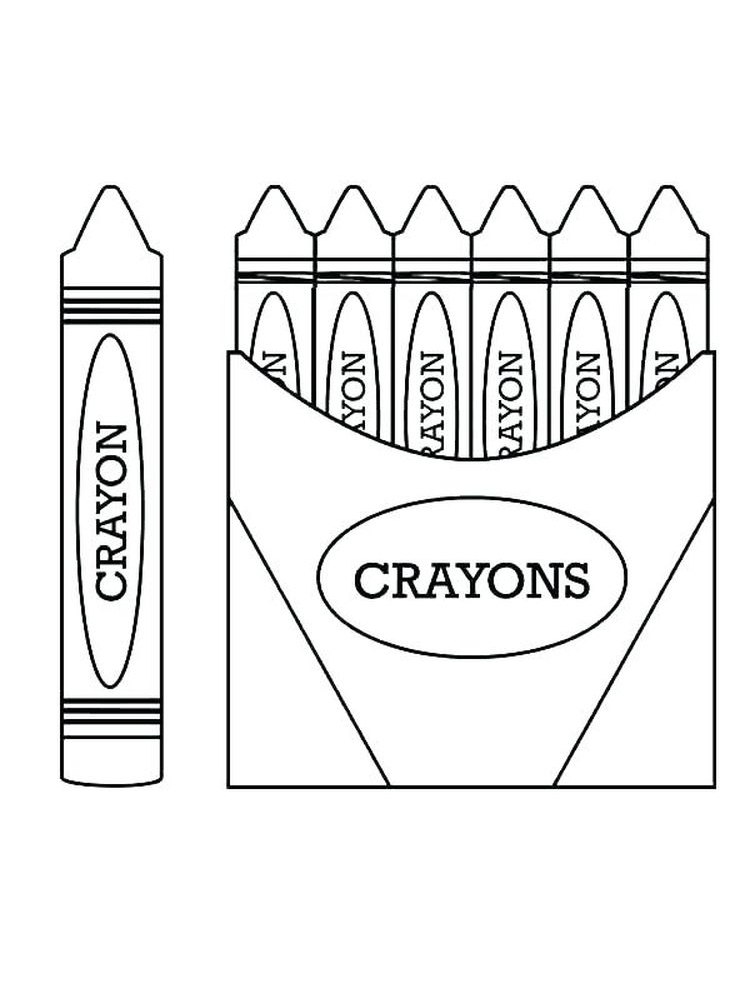printable red crayon coloring pages