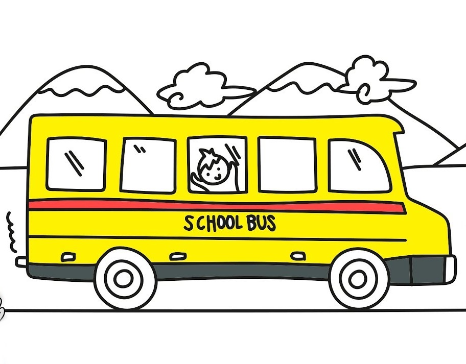 school bus coloring