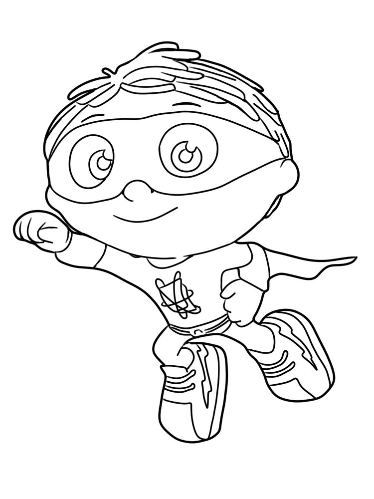 super why coloring pages wonder red
