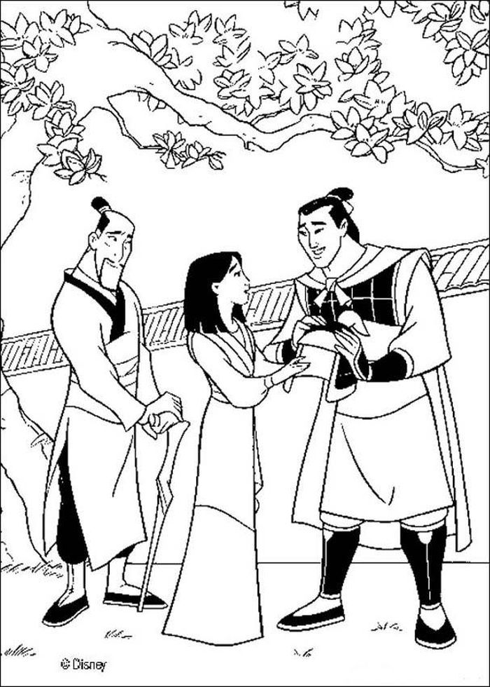Printable Mulan With Coloring Pages