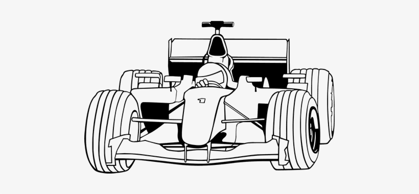 coloring formula 1 car printable