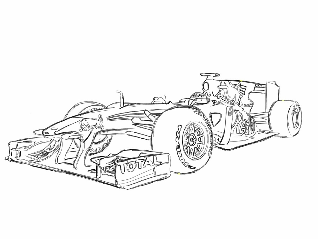 coloring page formula 1 car printable