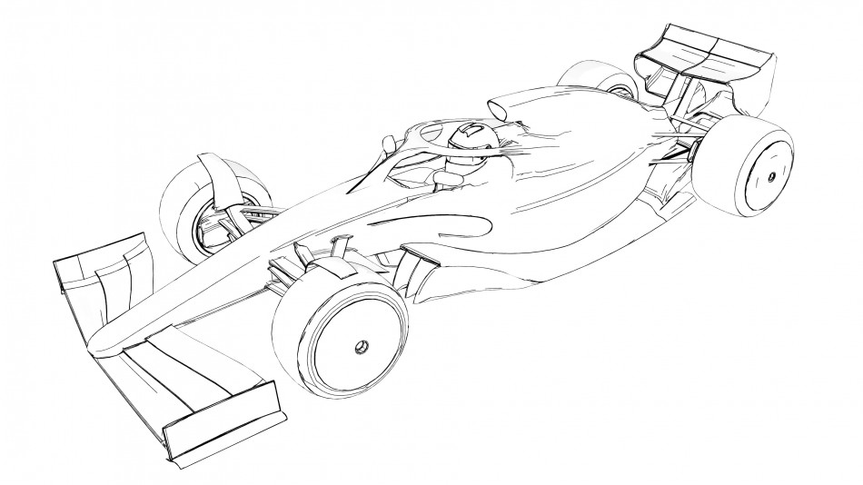 download formula 1 car coloring page