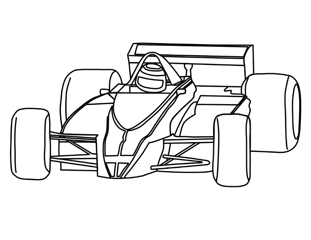 download formula 1 car printable