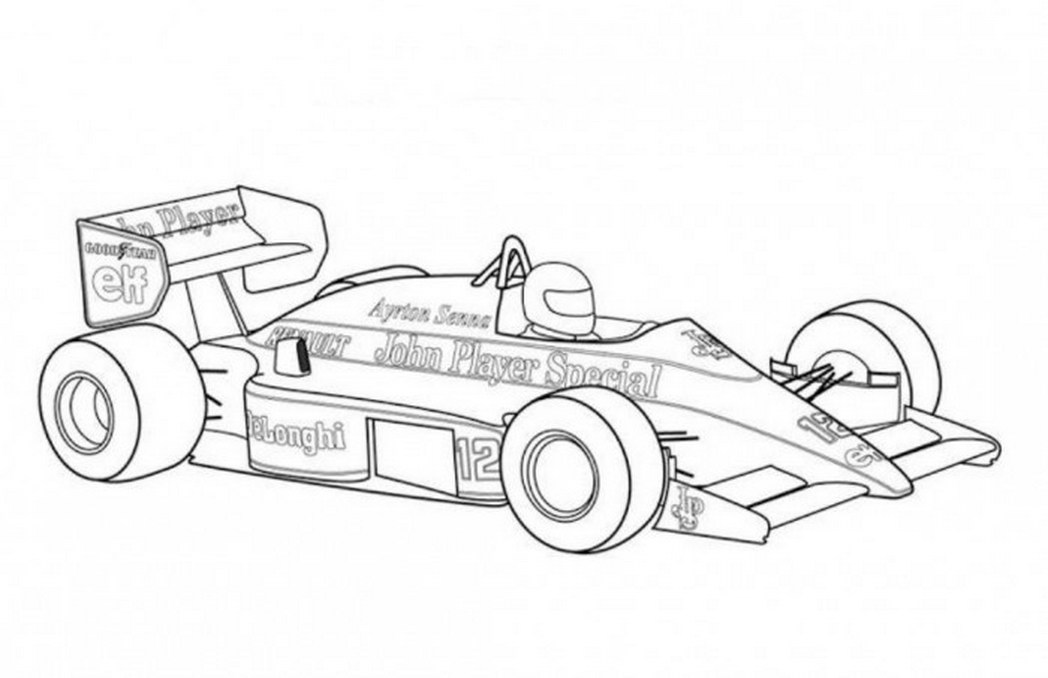 formula 1 car coloring pages