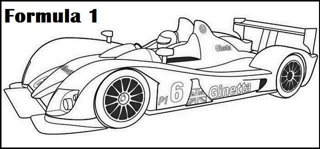 formula 1 car printable coloring
