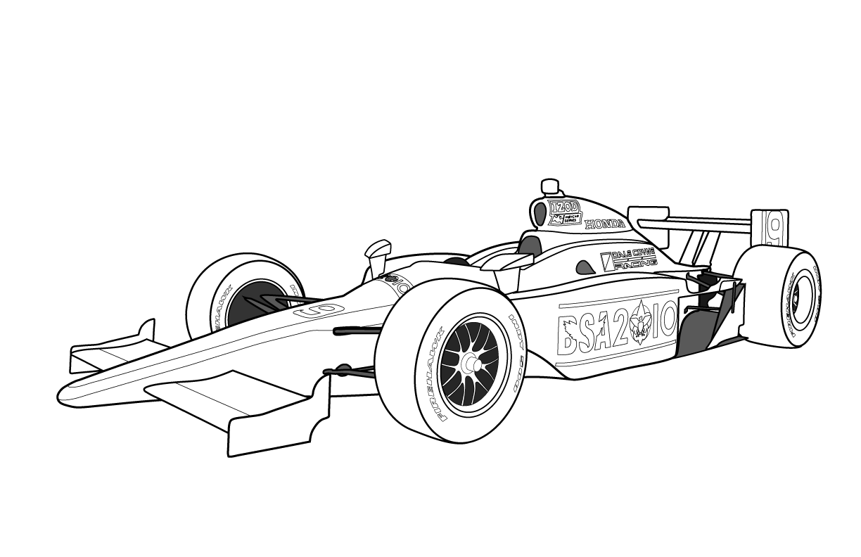 free formula 1 car printable coloring