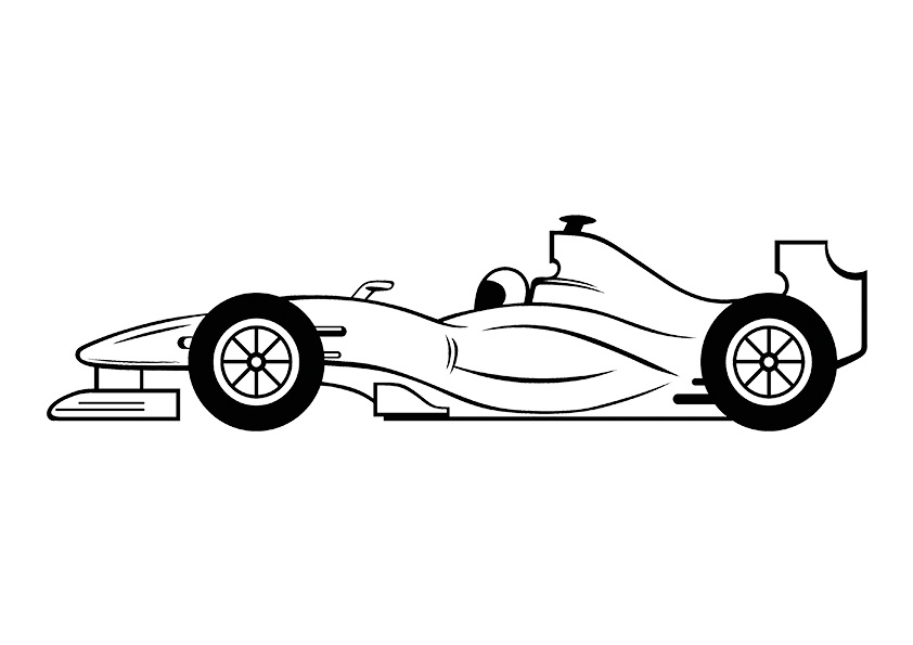 printable formula 1 car coloring pages