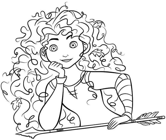 Download Coloring Pages Merida