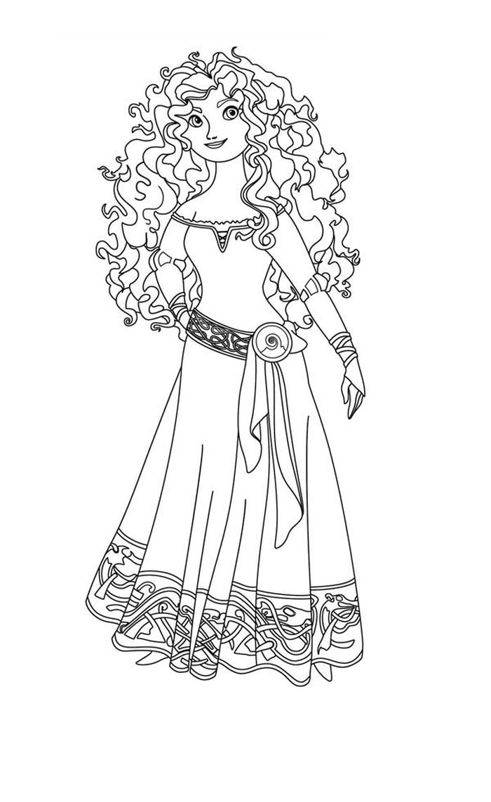 Download Disney Human Like Merida Coloring Pages