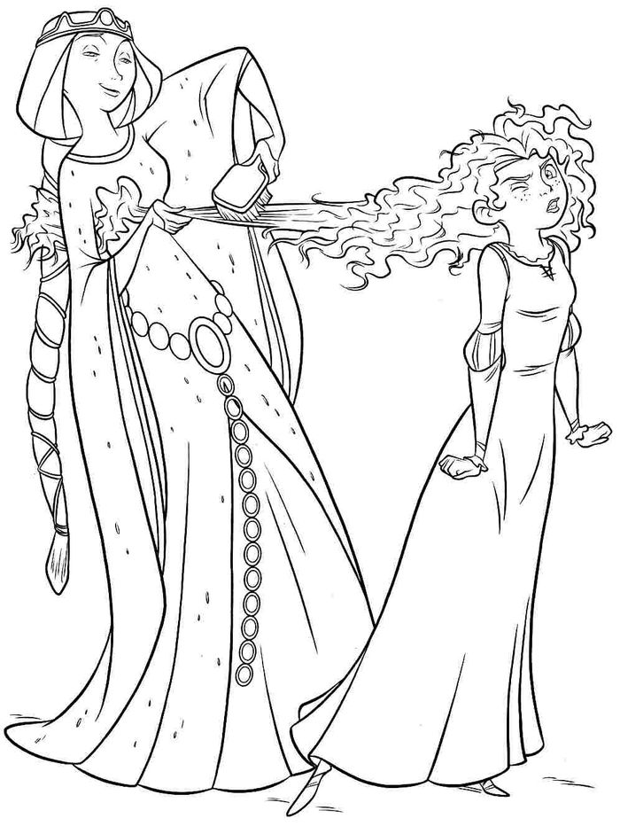 Download Disney Merida Coloring Pages