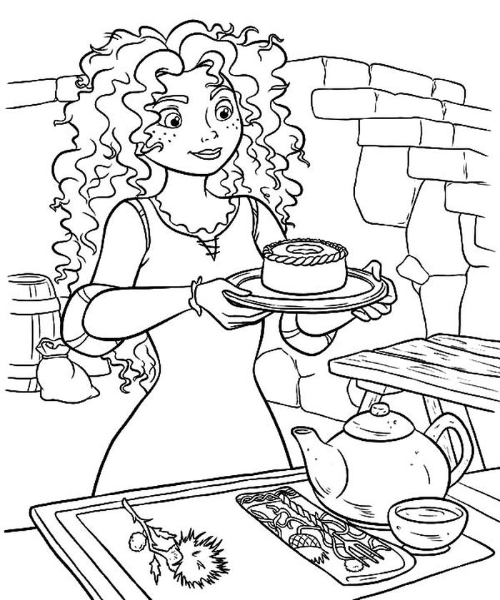 Download Merida Coloring Pages Without Her Bow
