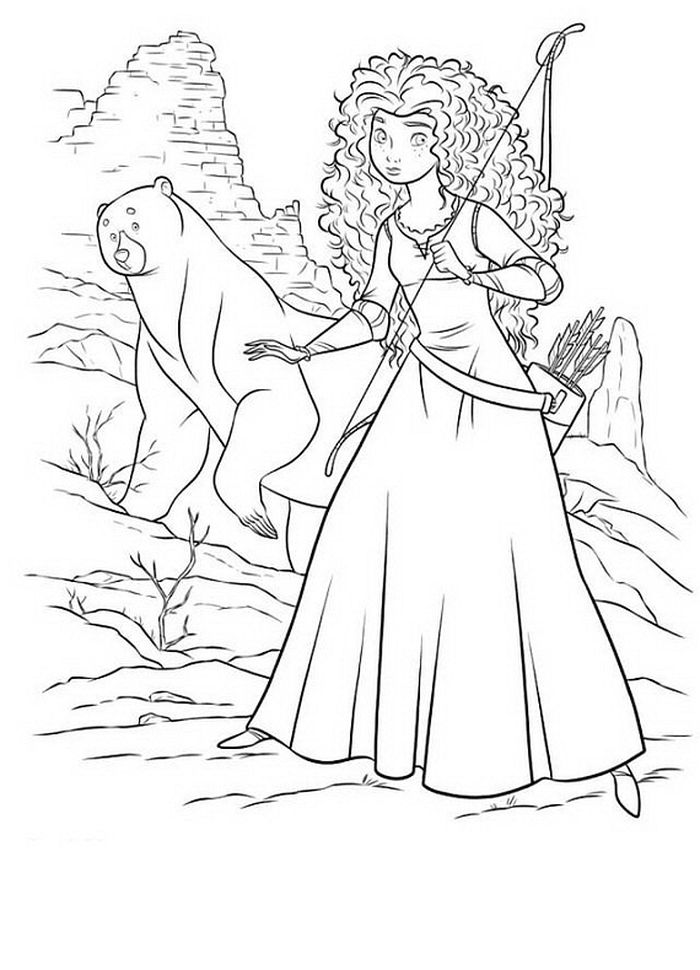 Download Merida Coloring Pages