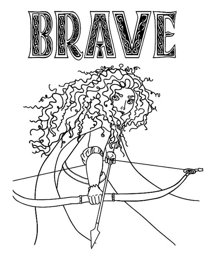 Download Merida Paper Doll Coloring Pages