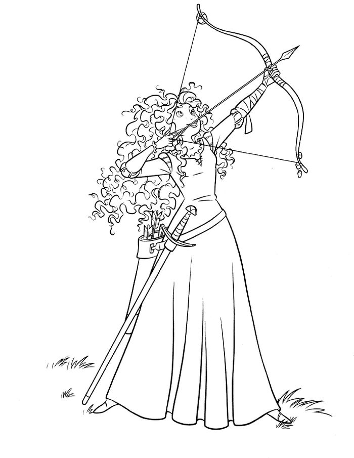 Download Merida The Brave Coloring Pages